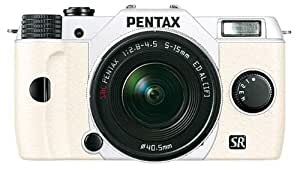 "Pentax Q10 Blanc Compact à objectif interchangeable LCD 3"" 12 Mpix Zoom 5-15 mm f/2,8-4,5 Edition spéciale"