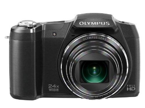 Olympus SZ-16 Digitalkamera (16 Megapixel, 24-fach Super Zoom, 7,6 cm (3 Zoll) LCD-Display, iHS, Full HD, OM-D Prozessor) schwarz