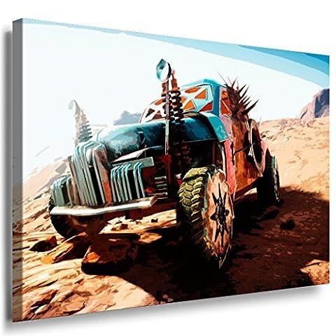 Mad Max Fury Road Leinwandbild LaraArt Bilder Mehrfarbig Wandbild 150 x 100 cm