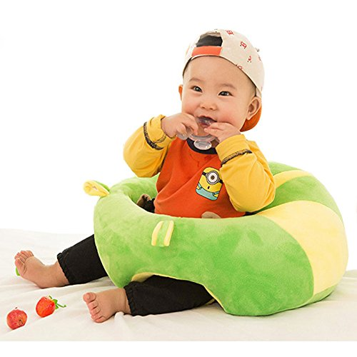 Baby Soft Plush Cushion Cotton Sofa Seat Infant Safety Car Chair Learn to Sit Stool Training Kids Support Sitting for Dining - Various Colours & Designs (6 to 24 Months)