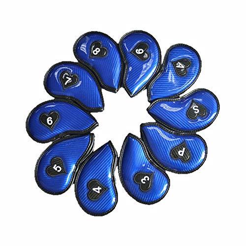 Gububi Golf Putter Headcovers, 10 STÜCKE hochwertige PU Material Glänzend Golf Putter Headcover Standardgröße Feuchtigkeit Golf Putter Abdeckung Personalisierte Golf Club Protector -