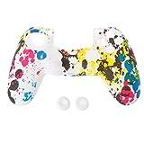 Anti-Rutsch-Multicolor-Silikon-Schutzhülle 2 Joystick Caps Für 4 PS4 Controller