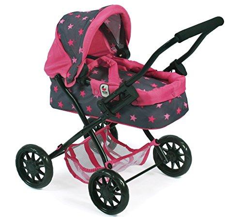 Bayer Chic 2000 555 82 Puppenwagen Smarty, Sternchen pink