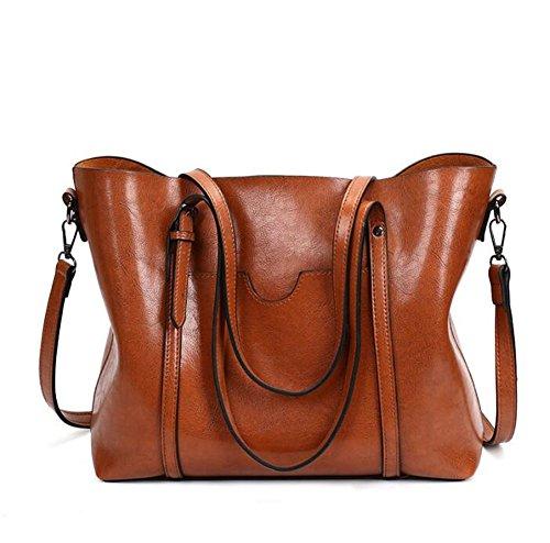 fdbf593f741b7 Wankaol Retro Umhängetasche Europa und Amerika Mode Eimer Tasche Frauen  Tasche PU Leder Handtaschen.