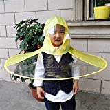 Sanwood - Cute Cartoon Ente Kinder Regenmantel Regenschirm UFO Form Regen Hat Cape Faltbar, Gelb, S