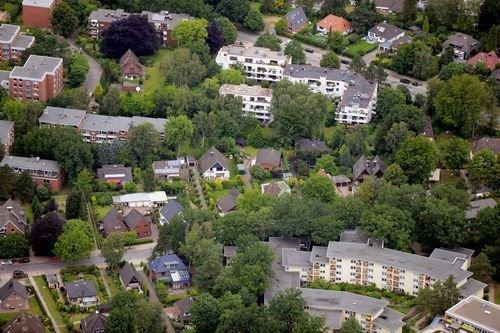 MF Matthias Friedel - Luftbildfotografie Luftbild von Sülldorfer Brooksweg in Rissen (Hamburg), aufgenommen am 15.07.12 um 18:16 Uhr, Bildnummer: 6195-02, Auflösung: 7360x4912px = 36MP - Fotoabzug 50x75cm
