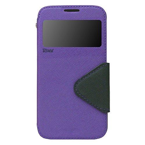 iPhone 6 6s Plus Hülle Flip Case Tasche inkl. Silikon innen View Fenster Magnetverschluß Easy Touch Kartenfach Farbauswahl Orange Violett