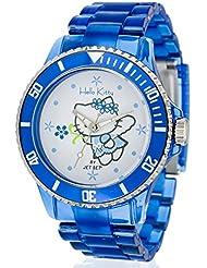 Hello Kitty Mädchen-Armbanduhr Obi Blue Analog Quarz Plastik JHK1004-19