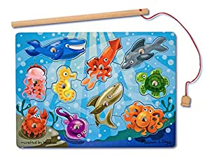 Melissa & Doug Fishing Magnetic Puzzle Game - Rompecabezas (Rompecabezas de Figuras, Fauna, Preescolar, Niño/niña, 3 año(s), 12 año(s))