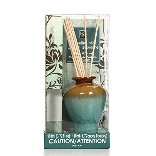 HOSLEY Aromatherapie Hawaiian Mist Diffusor Öl mit Keramik Flasche und Reed sticks. All in One. 110ml. Bulk kaufen. Ideales Geschenk für Hochzeiten, SPA, Reiki, Meditation, Badezimmer Einstellungen O4 (Reed-diffusor Premium)
