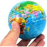 Velishy(TM) World Map Earth Squeeze Foam Ball Hand Wrist Exercise Stress Relief Ball by Velishy