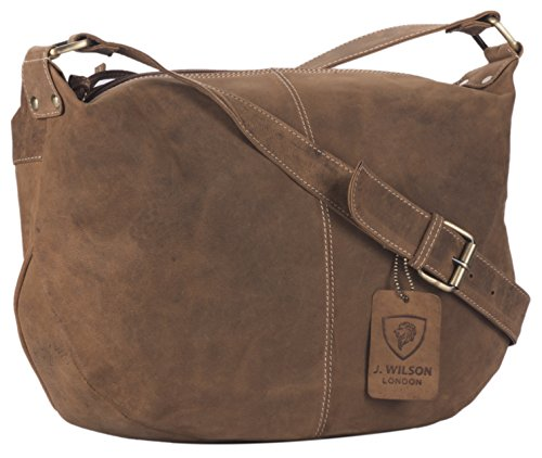 J. Wilson London, Damen Satchel-Tasche Distressed Tan M - Distressed Satchel