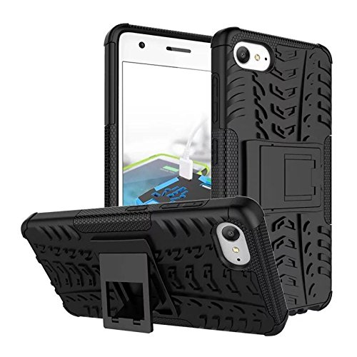 WOW Imagine™ Defender Tough Hybrid Armour Shockproof Hard PC + TPU with Kick Stand Rugged Back Case Cover for ZUK Lenovo Z2 Plus - Black