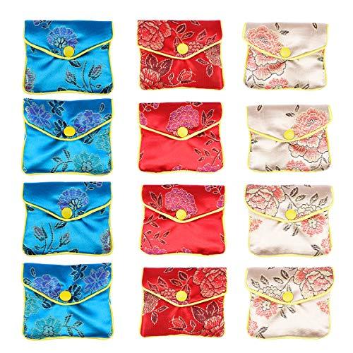 Toyvian 12 stücke chinesische schmuck geschenkbeutel traditionelle Brokat Beutel geldbörse Stickerei Beutel schmuckbeutel Hochzeit Geburtstag zugunsten Geschenk (Taschen Hochzeit Zugunsten Für)