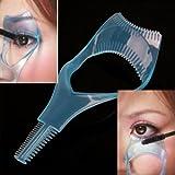#10: Jovana 3 In 1 Mascara Applicator Guide Tool Eyelash Comb Makeup Plastic Curler Beauty