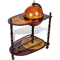 Gabinete de bar de globo con carretilla de tabla