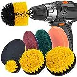 TAOtTAO Lot de 8 tampons de nettoyage pour perceuse et brosse à récurer pour nettoyage de piscine
