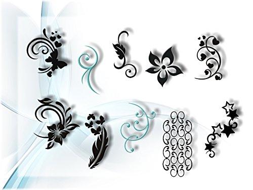 120 Airbrush-Schablonen Einzelmotive - Airbrush Nail Art selbstklebend im Mix