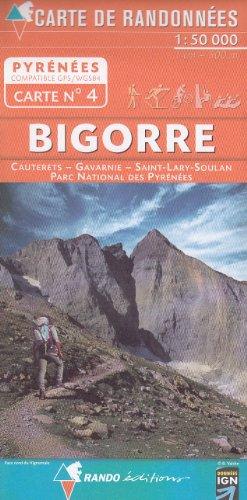 N ° 4 Bigorre, Cauterets, Gavarnie, Saint-Lary-Soulan, du Parc National des Pyrénées 1:50.000 carte de randonnée topographique (Pyrénées)