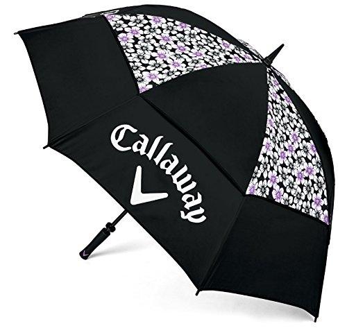 Callaway Updown 60 Parapluie Mixte, Noir/Violet, Moyen
