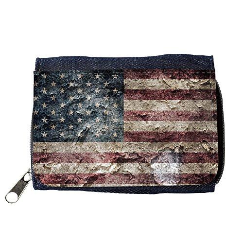 Portemonnaie Geldbörse Brieftasche // V00001617 amerikanische USA-Flagge // Purse Wallet (Amerikanische Geldbörse)