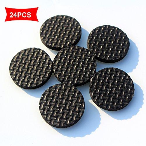 Dicke, rutschfeste Möbel-Polster aus Gummi (kein Kleber oder Nägel), Durchmesser ca. 2,8cm, 24 Stück.