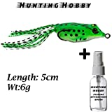 #4: Top Water,Floating Frog With High Rigged Stainless Hook