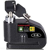 UB Candado de Disco con Alarma 7mm 110DB Dispositivos Antirrobo para Motos Bicicletas