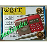 Portable Rechargeable Obit FM Radio With SD,USB,AUX Slots