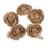 Tinksky Hessische Jute Rose Blumen Hochzeit Buralp Weihnachtsdekoration -5 x