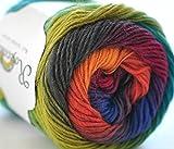rosecolor 1Skein 2oz mano teñida gradiente–Ovillo de 100% lana de merino para tejer...