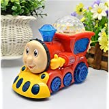 O&B Musical Train Toys For Kids Bump And Go With 4D Light For Kids ( Color May Vary )
