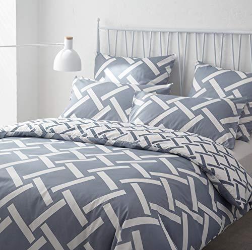 AYA Sets de Housse de Couettes 220x240cm + 2taies d'oreillers 65x65cm Parure de lit pour 2 Personnes Motif1