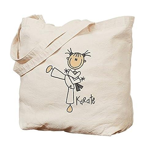 cafepress–Stick Figurine Karaté Sac fourre-tout Toile naturelle–Chiffon Sac fourre-tout, Sac à provisions