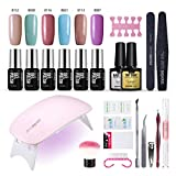 Best Uv Gel For Nails - Gel Nail Polish Kit with UV light Review