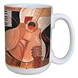 Tree Free sans lm43399 15 oz tasse en céramique Motif abstrait guitare avec poignée de taille standard