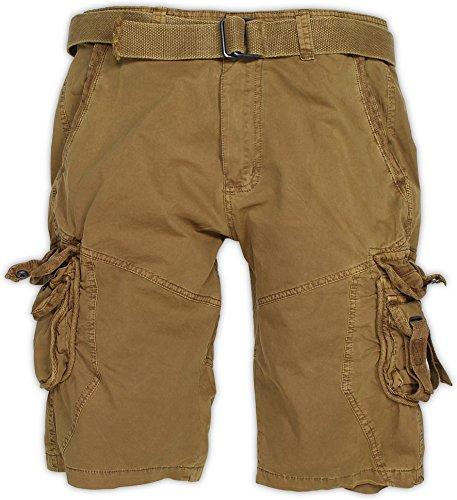 normani Herren Bermuda Vintage Cargo Short Farbe Khaki Größe L - Herren Khaki Hose