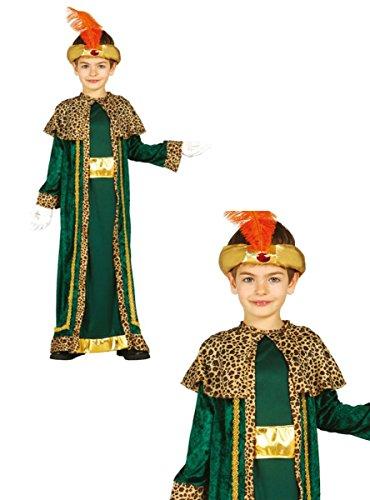 Melchior Kind Kostüm - Guirca König Melchior Kostüm für Kinder Krippenspiel die Heiligen Drei Könige Kirche Weihnachten Gr. 98-146, Größe:128/134