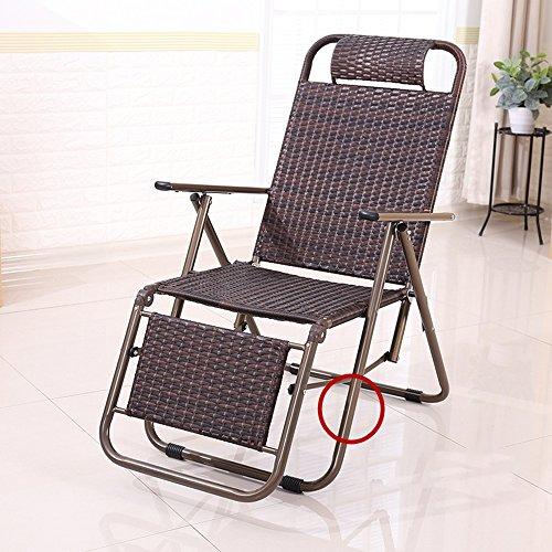 KLEDDP Klappstuhl Mittagspause Couch Bürobett Recliner Zurück Faulen Stuhl Klappstuhl (Color : Round feet)