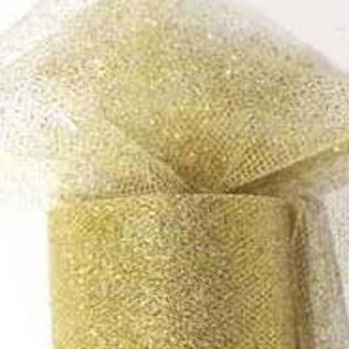 Unbekannt PartyDeco Tulle Glitter Gold,Spule