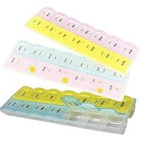 Salamii Medikamentenbox, 14 Fächer, für 7 Tage, Tabletten, wöchentliche Medikamenten-Aufbewahrung, Organizer (... preisvergleich bei billige-tabletten.eu