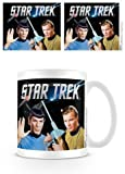 Star Trek - Kirk und Spock Tasse Trekkie Kaffeebecher Keramik 330ml weiß