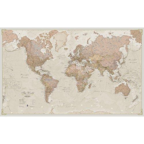 Mapa plastificado de diseño antiguo y gran tamaño