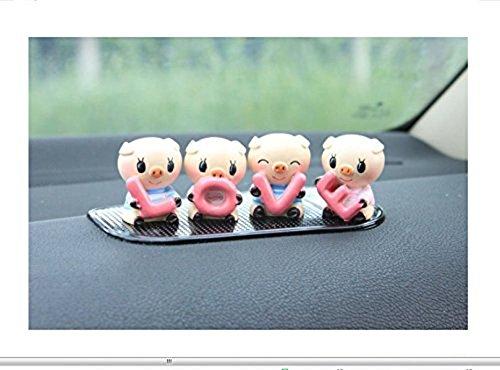 to-Dekoration reizende kleine Schwein Innenraum passt das Auto ein Schweinchen Dekoration Auto-Styling Piggy 4pcs / set ()