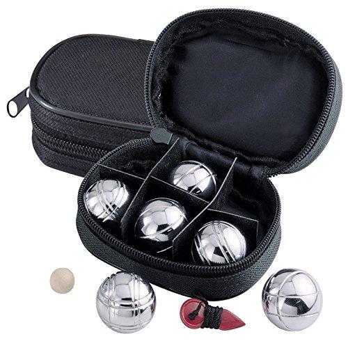 Mini Boules-Set / Spiel mit 6 Metallkugeln / im praktischem Etui