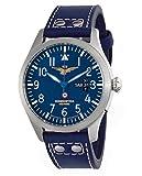 Aeronautica Militare AV3C5 - Reloj, correa de piel de borrego color marrón