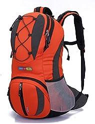 Diamond Candy - Mochila de senderismo y exteriores para mujer y hombre, con protector impermeable para alpinismo, escalada, equitación, bolsa de viaje, maleta multifunción, de estilo militar, gran capacidad de 22litros, x x, Arancione