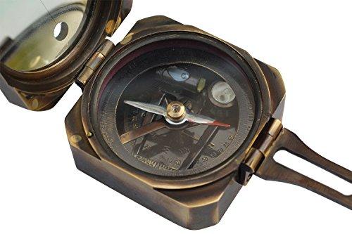 Preisvergleich Produktbild souvnear 6, 3 cm Messing Boot Kompass,  Sonnenuhr Neigungsmesser Kompass mit Push Button (Wasserwaage) – Magnetischer Nautisches Gerät für Home / Office Dekor / Wasser Sport