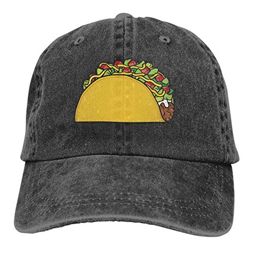 cvbnch Cowboy-Hut Sonnenkappen Sport Hut Taco Cartoon Men's Women's Adjustable Baseball Hat Denim Fabric Sun Hat Sports Cool Youth Golf Ball Unisex Hiking Cowboy hat hip hop Performance Womens Hut