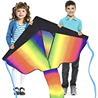 Sun Kites Huge Rainbow Kite for Kids Adults Boys & Girls - Very Easy to Fly - Stable In Low Winds - Great for Beginners & Children